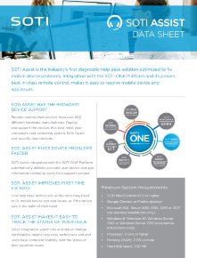 SOTI Assist Data Sheet