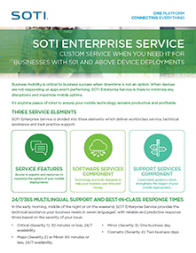 SOTI Enterprise Service brochure
