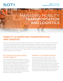 Managing Mobility for Transportation and Logistics Honeywell brochure