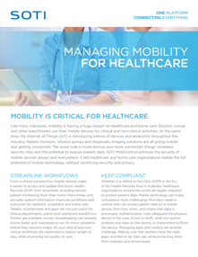 Managing Mobility for Healthcare Honeywell brochure