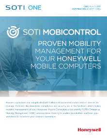SOI MobiControl for Honeywell brochure